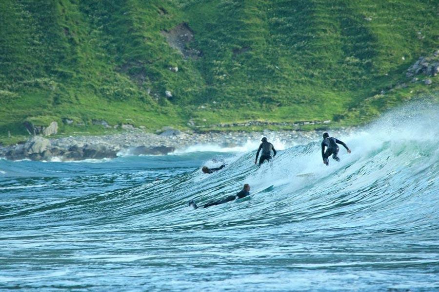 Skrivergaarden surfing Hoddevika